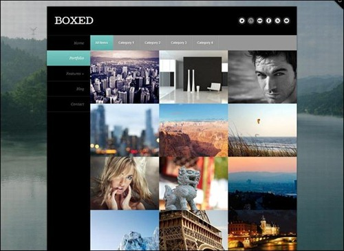 Boxed – Responsive Full Background Photo Theme