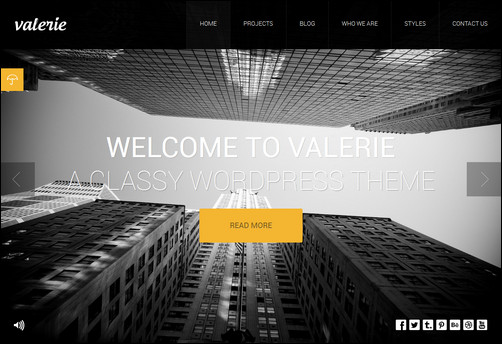 Valerie - Photography WordPress Theme