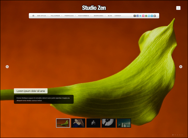 Studio Zen Fullscreen Photo WordPress Theme