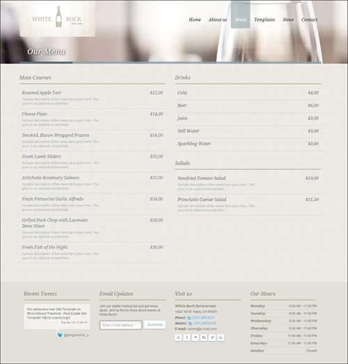 white-rock-restaurant-menu-templates