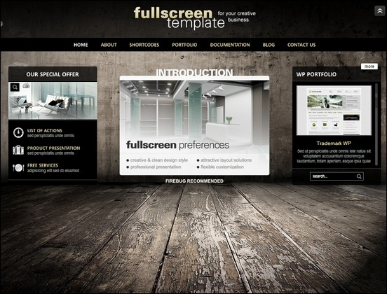 fullscreen template has extremely universal design perfect for any corporate or personal website