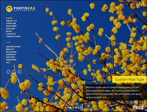 Photogra Fullscreen Responsive WP Theme