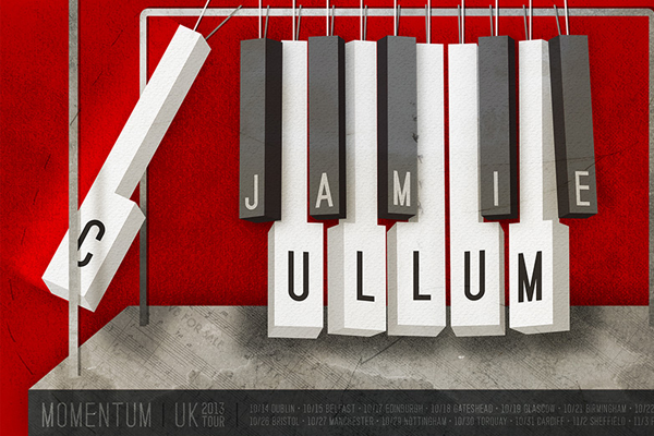 jamie cullum piano poster illustration