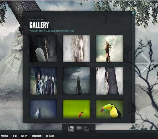 gleam is a cool photography theme