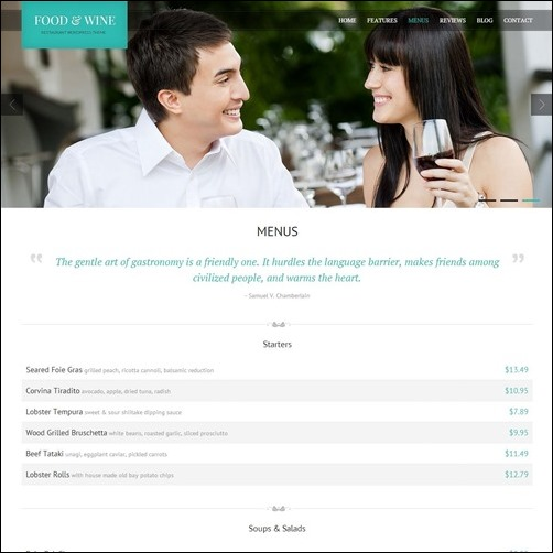 food-&-wine-responsive-wordpress