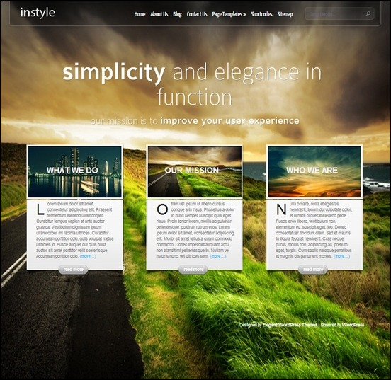instyle is a simple, bold and elegant wordpress theme