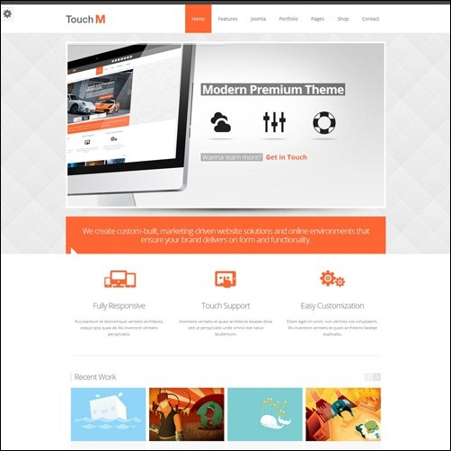 touchM Joomla 3.0 Template