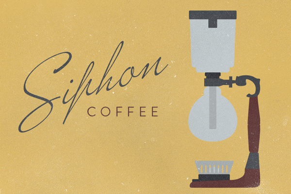logo illustration design siphon coffee maker