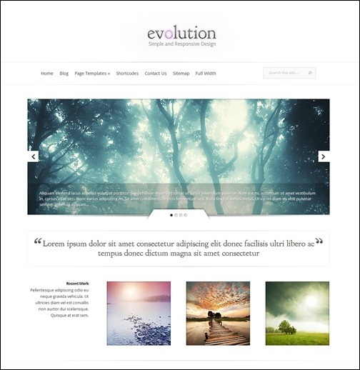 Evolution – Minimalistic Responsive Photo Theme