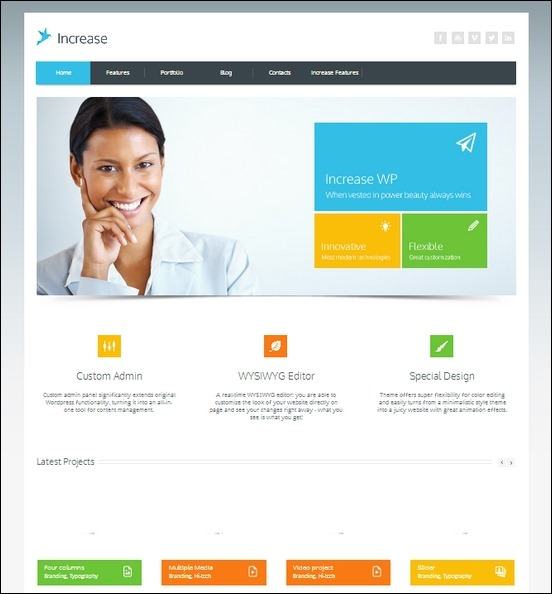increase is a neat and special theme for wordpress