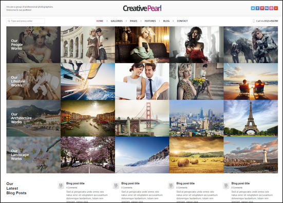 CreativePearl - Photography Responsive