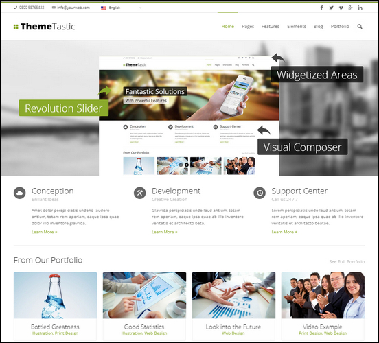ThemeTastic Flat Responsive WordPress Theme