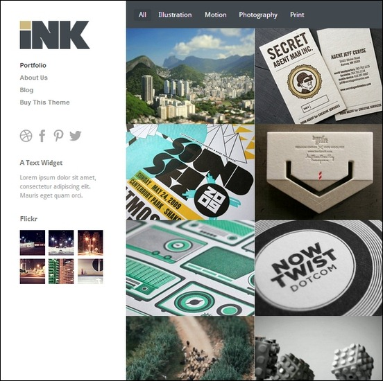ink is a clean, elegant wordpress theme