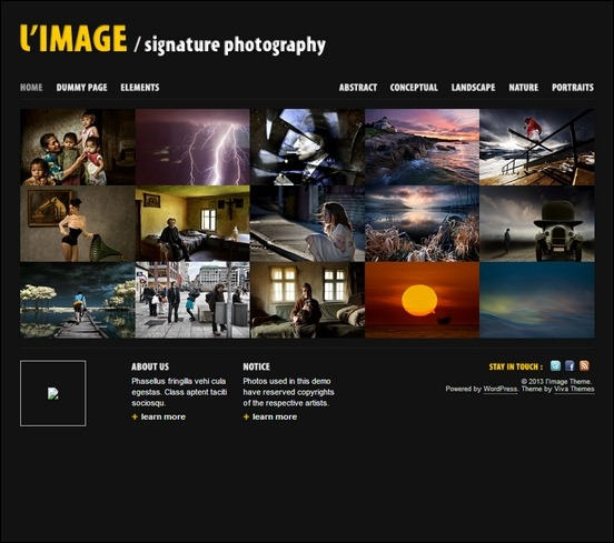 limage is an ideal theme for creatives and photographers