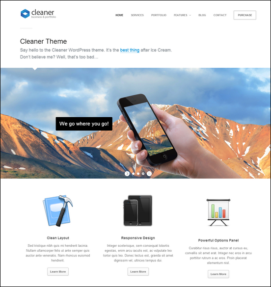 Cleaner Business  & Portfolio WordPress Theme