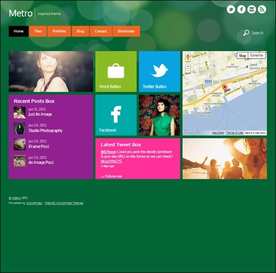 metro is a colorful metro ui inspired theme for wordpress