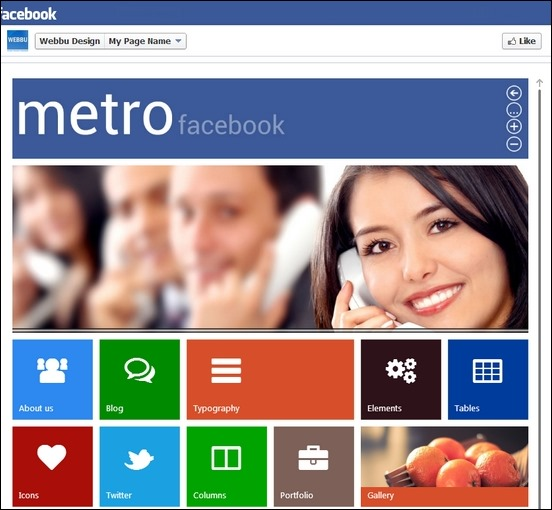 metro facebook template a cool template that has tons of feautres perfect for your very needs