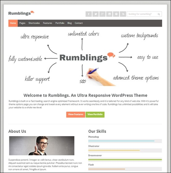 rumblings is a classic powerful theme packed with awesome features