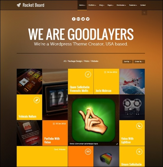 rocket board an awesome metro styled theme for wordpress