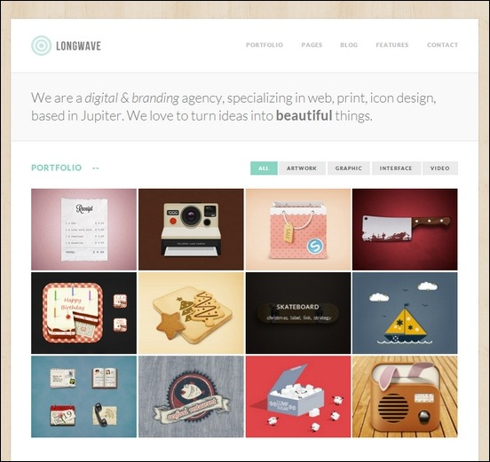 longwave is a beautiful theme especially designed to photographers and creative agencies