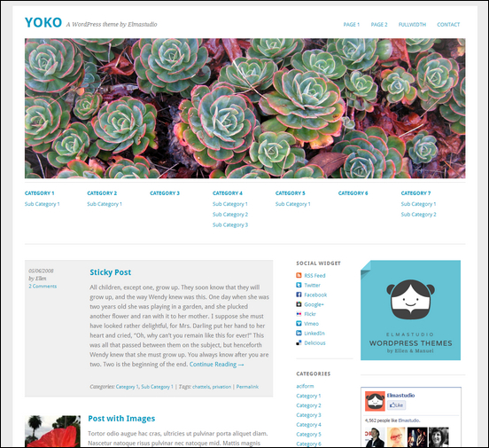 yoko white wordpress theme