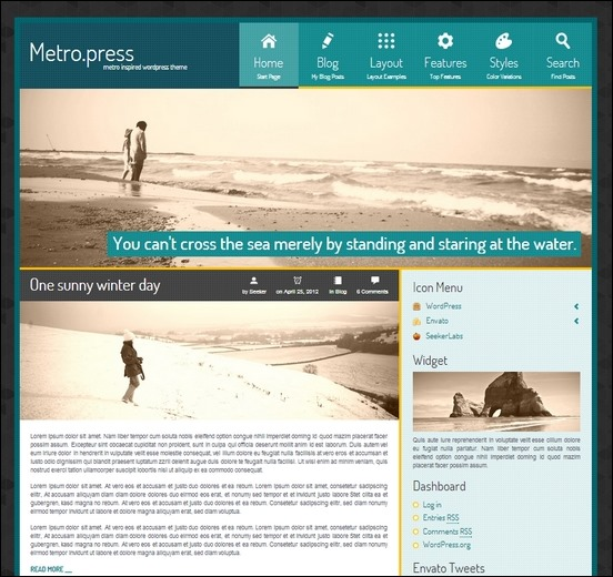 metropress is a metro inspired theme for wordpress powered by warp framework and widgekit