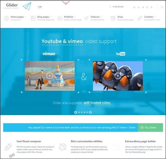 glider is a neat flat and stylish theme for wordpress