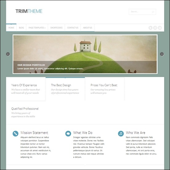trim is a simple designed theme  that is used to create business sites