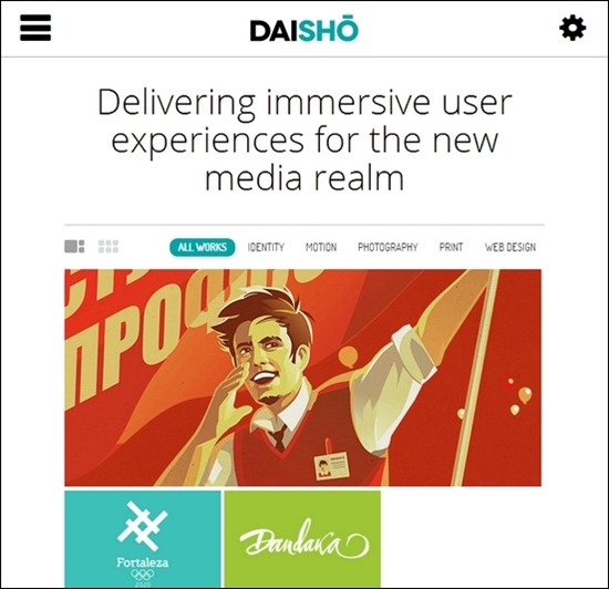 daisho is a fresh minimal looked theme for wordpress