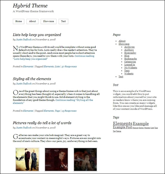 hybrid is a user friendly theme with a clean and legant design