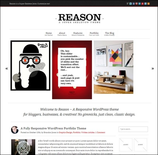 reason is a is very customizable resnponsive wordpress theme