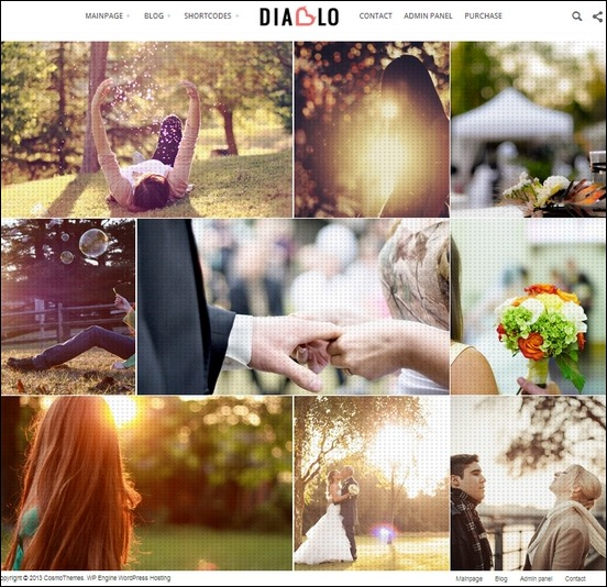 diablo an eye candy wordpress theme