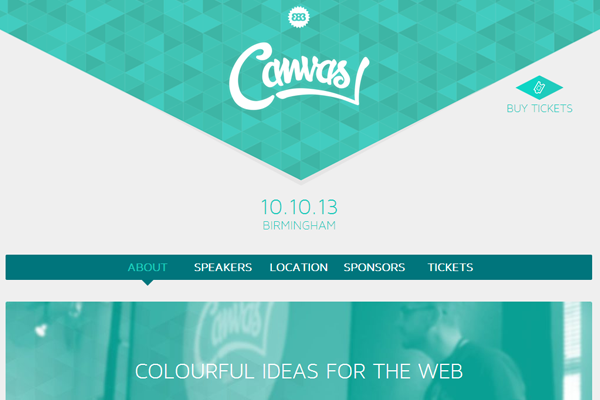 canvas conference 2013 website layout