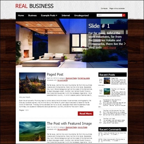 real-business WordPress Business Theme