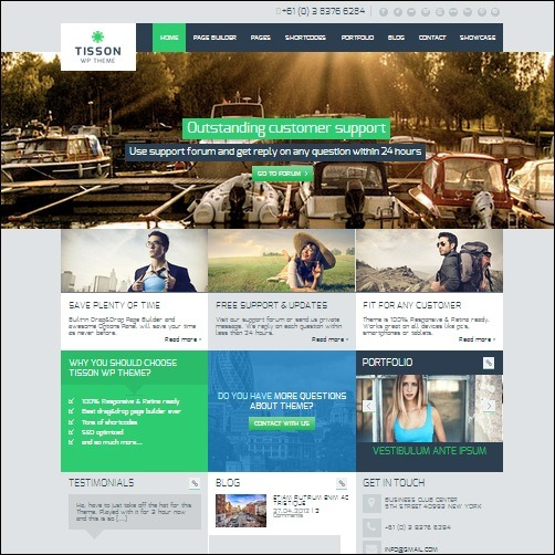 tisson WordPress Business Theme
