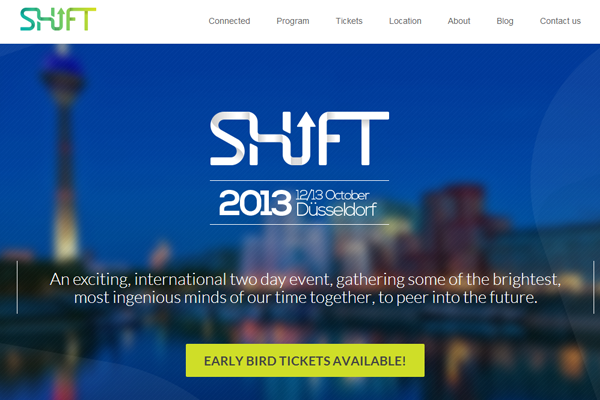 shift conference europe 2013 website