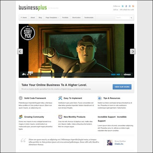 business plus WordPress Business Themes