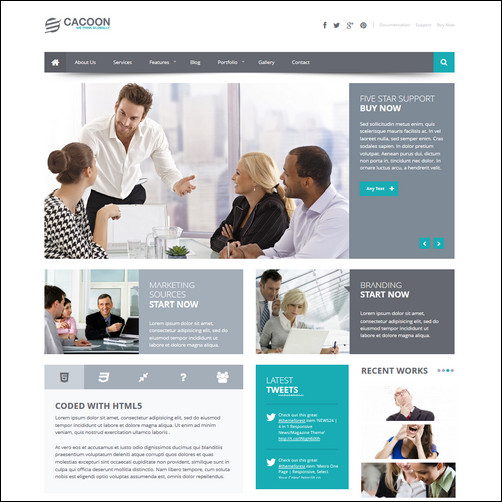 cacoon business theme