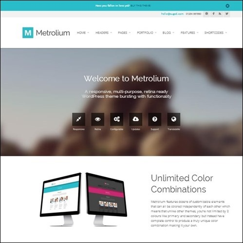metrolium WordPress Business Theme