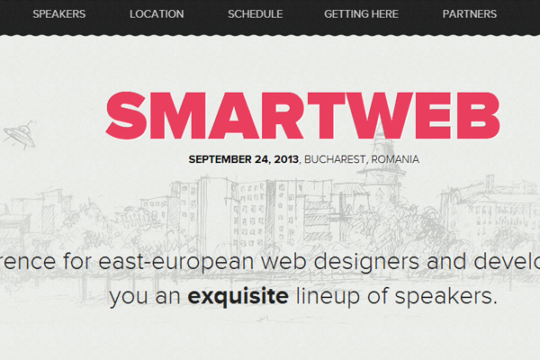 smartweb conference romania 2013 website