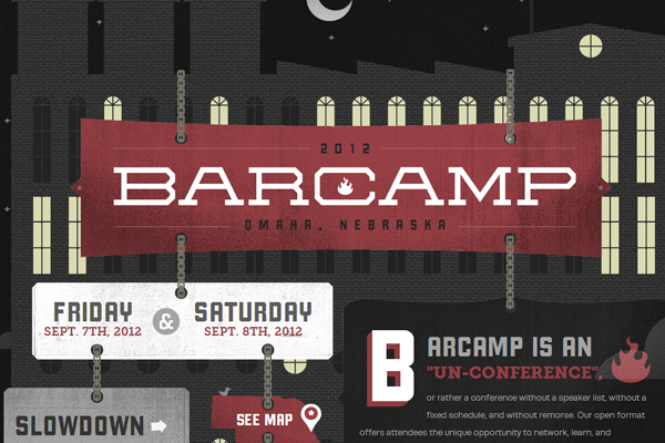 barcamp omaha 2012 conference website layout