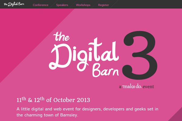 digital barn 2013 website conference layout