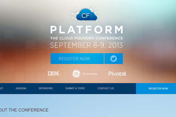 cloud foundry conference 2013 website layout