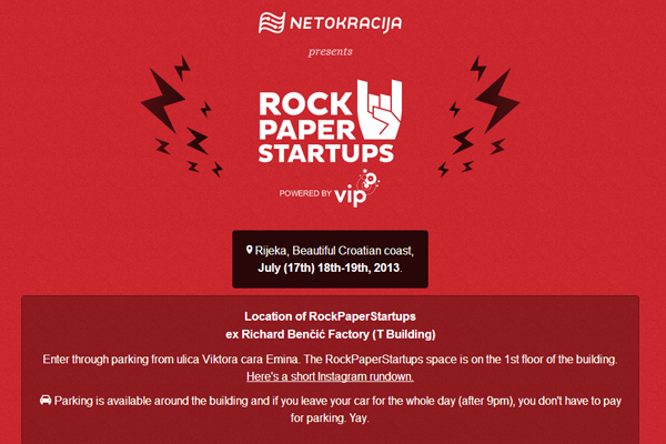 rock paper startups 2013 conference website