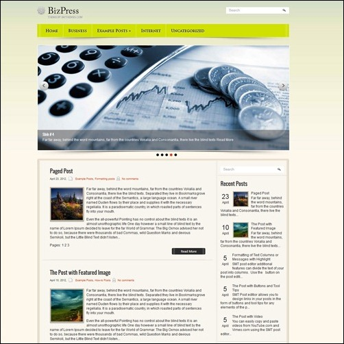 bizpress WordPress Business Themes