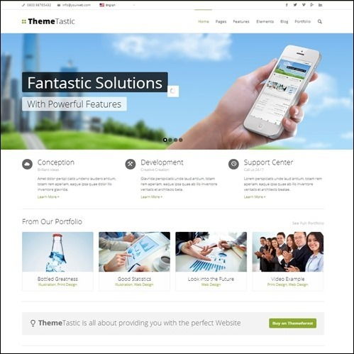 flat WordPress Business Theme