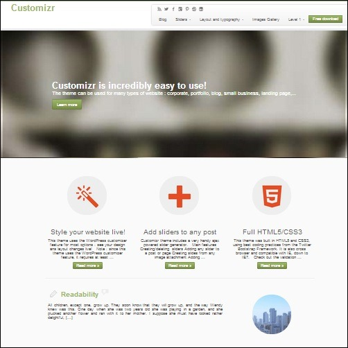 customizr WordPress Business Theme