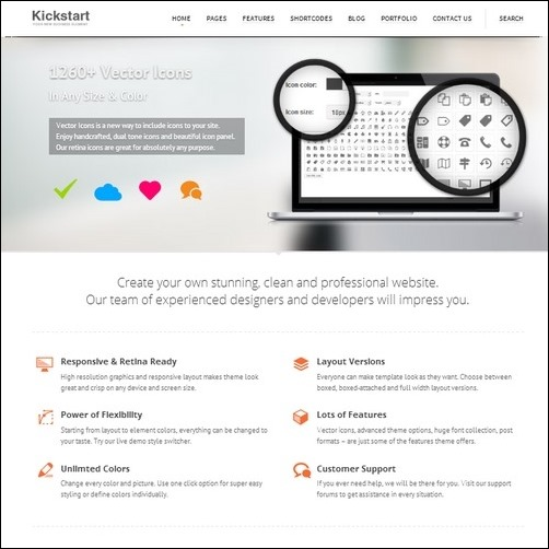 kickstart-wordpress-theme for business