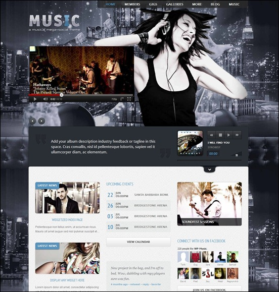 music-wordpress-theme