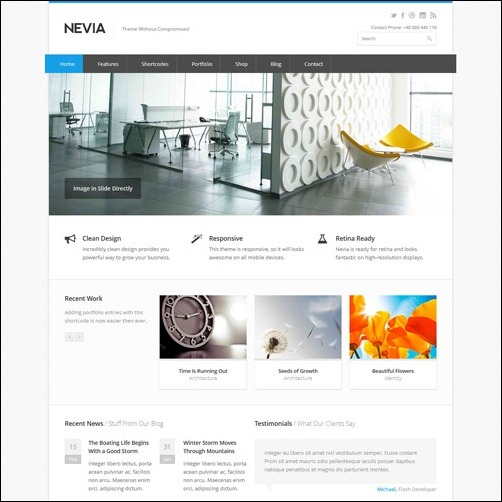 nevia WordPress Business Themes